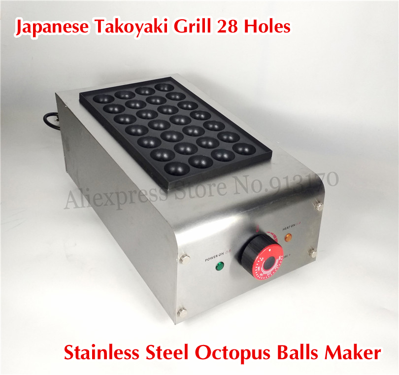 Japan Food TAKOYAKI Grill Maker Octopus Ball Cooking Stove Machine Stainless Steel 28/18 Holes Nonstick Grill Plate цена