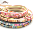 5MM Colored stripes Leather cord/jewelry accessories/jewelry findings/rope/diy accessories