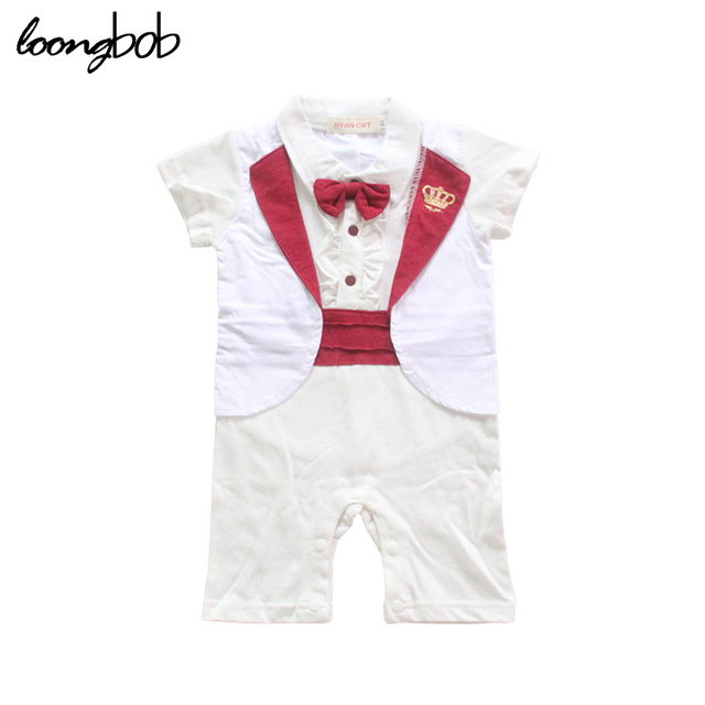 3087bdcbe979 Summer Baby Clothes Romper Infantil Bow Tie Children Gentleman Jumpsuit  Roupa De Bebe Baby Boy Party. Mouse over to ...