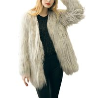 Women Fur Faux Fur Coat Casual Solid Fashion Slim Fur Open Stitch Long Outwear 2017 New