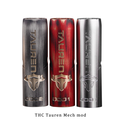 New Electronic Cigarette Mech mod Original THC Tauren Mech Mod support single 18650/20700/21700 vs vgod mech pro elite mod
