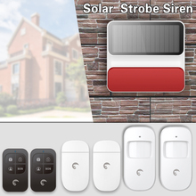 eTiger S8A Outdoor Solar Wireless Alarm Siren Home Security Protection Localtion Alarm System