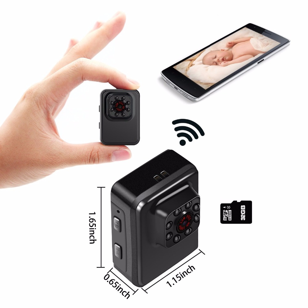 R3 Mini Camera Wifi P2P APP Control Micro Camera Full HD 1080P Mini Sport DV Camera Infrared Night Vision DVR Video Camcorder mini dv md80 dvr video camera 720p hd dvr sport outdoors with an audio support and clip
