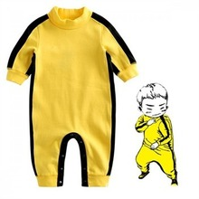 2018 Baby Rompers Boys Clothes Newborn Boys Bruce Lee Kung Fu Romper Jumpsuit Outfit infant clothing