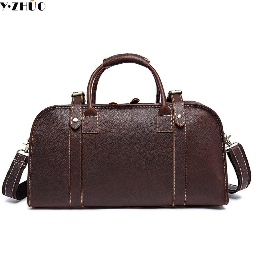 really cowhide Genuine leather Man Bag Leather Men Large Travel Bags Vintage Language Handbag Male Crossbody Shoulder Bag