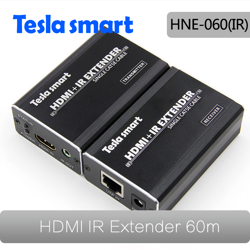 200ft/60m HDMI Extender Over Single-wire CAT5e/6 Extender Connector With IR Remote Control Support HDTV 1080P HDCP
