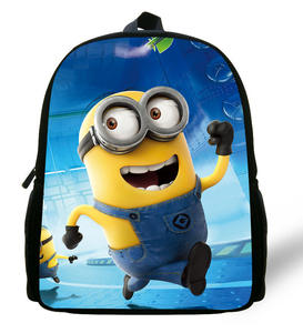Kids Backpack Book-Bag Minions Mochila Girls Cartoon for Cute 12-Inch Aged 1-6 Boys