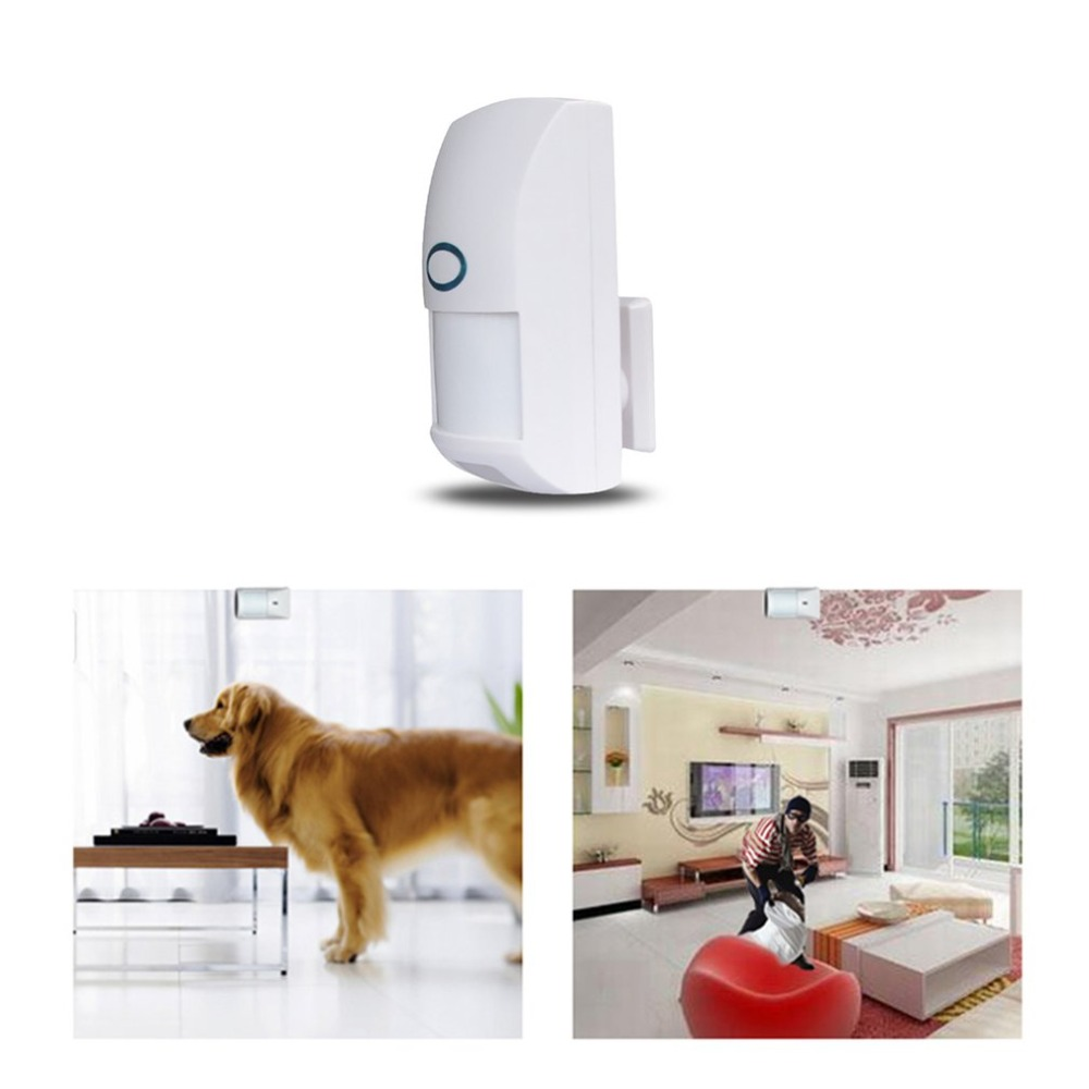 Wireless 433MHZ Home Security Pet Immune Motion PIR Sensor Dual Infrared Detector For Alarm System 433 mhz wireless 10kg pet friendly motion pir detector infrared detector for home security alarm system