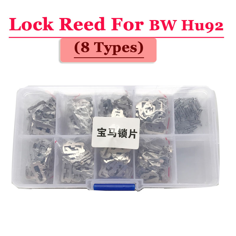 Free shipping (200pcs/box )Hu92 car lock reed locking plate for bmw lock (each type 25pcs) Repair Kits 200pcs lot hu92 car lock reed locking plate hu92 car locks tablets lock spring car locksmith tools