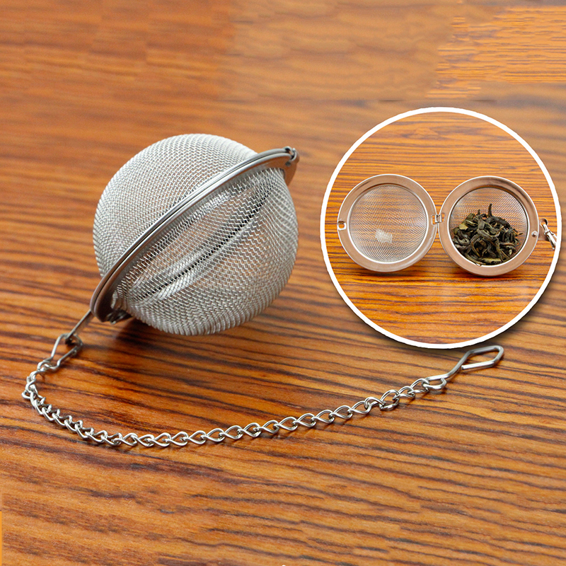 New Stainless Steel Tea Strainer Infuser Tea Locking Ball Tea Spice Mesh Herbal Ball Cooking Tools For Home X