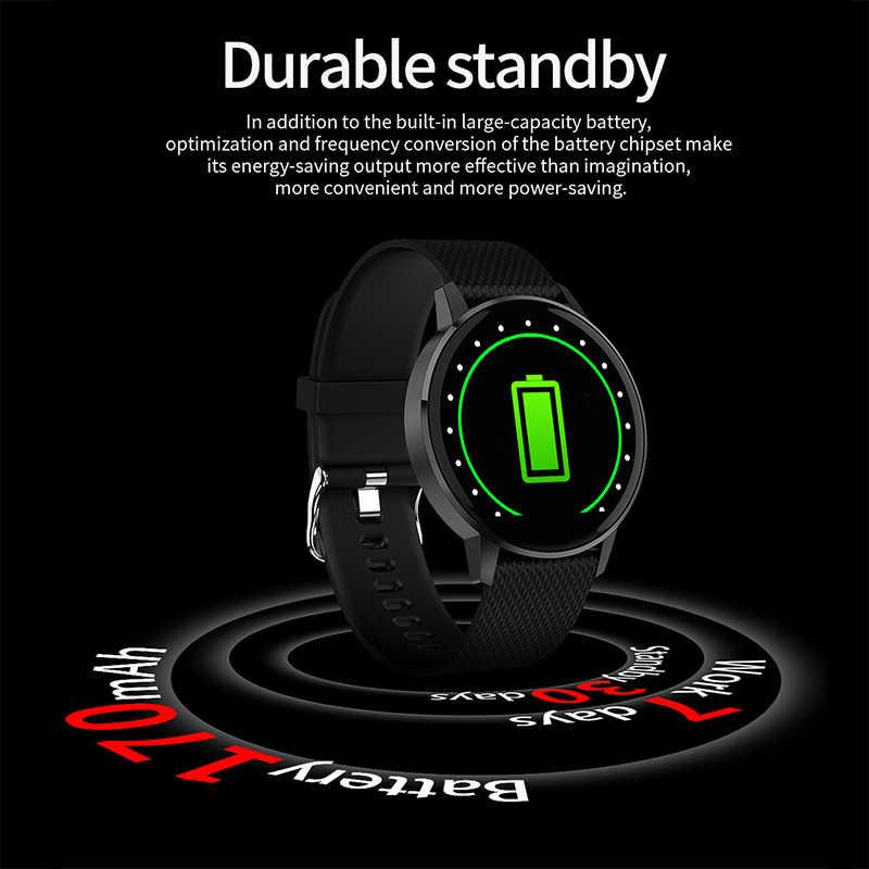 T4 スマートウォッチ女性 Bluetooth 強化ガラスフィットネスブレスレット IP68 防水心拍数モニタースポーツスマートウォッチ男性