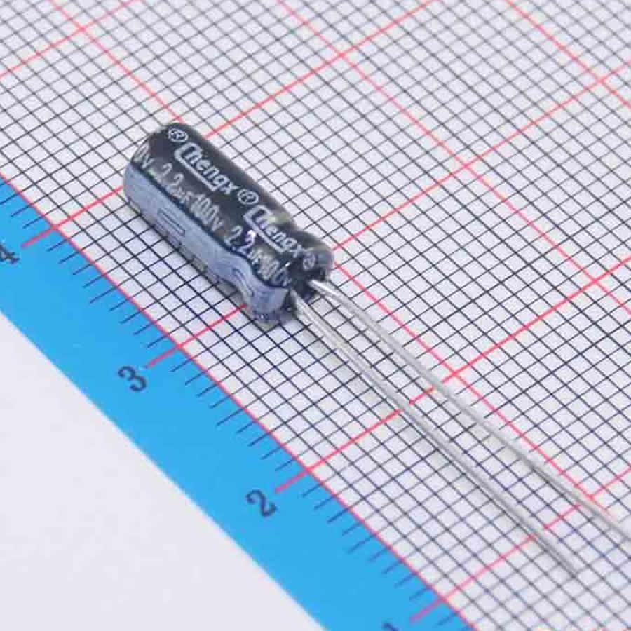 MCIGICM 1000pcs Aluminum electrolytic capacitor 2.2uF 100V 5*11 Electrolytic capacitor