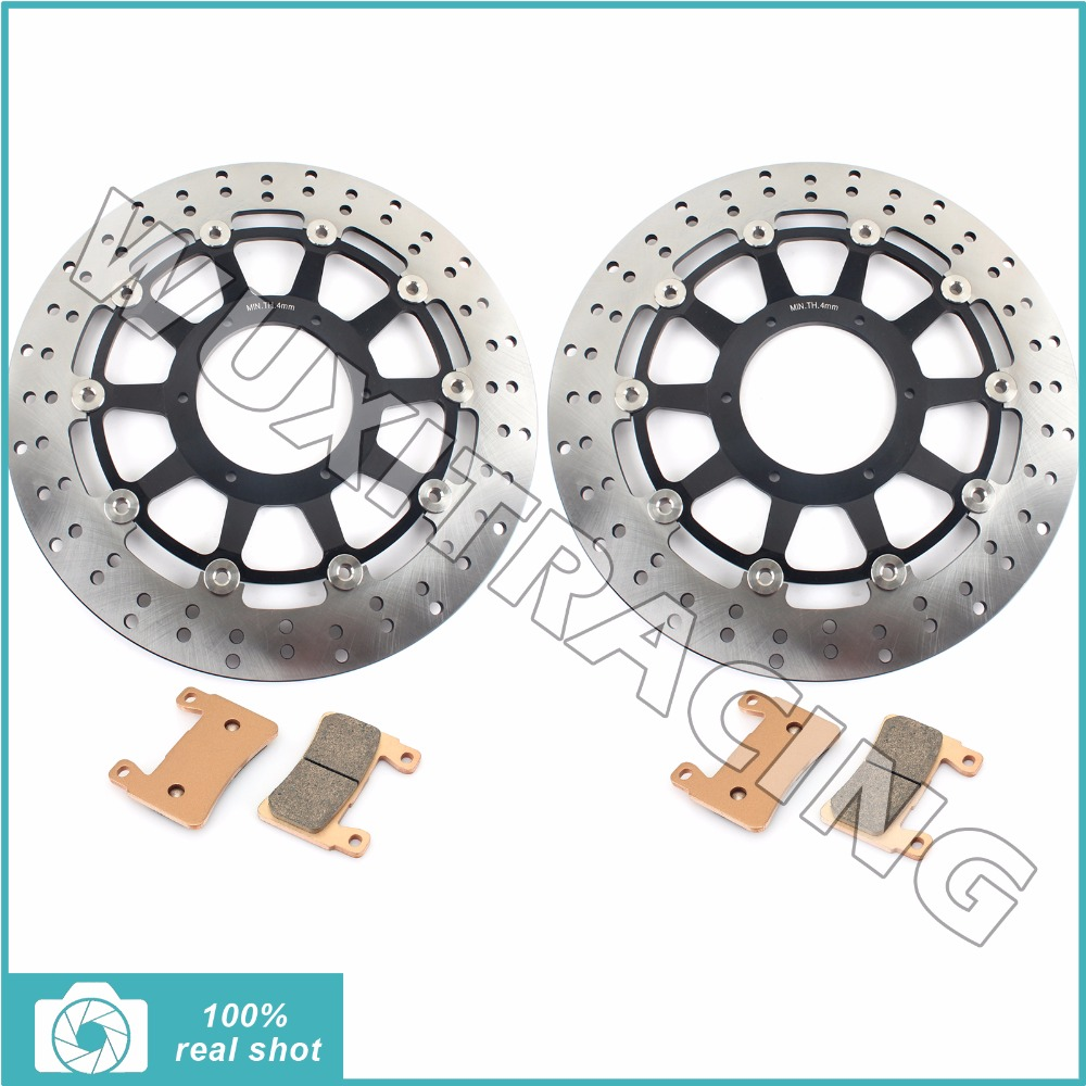 Round New Front Brake Discs Rotors Pads fit for HONDA VTR 1000 VTR1000 SP1 SP2 RVT 1000 R RVT1000R 2001 2002 2003 2004 2005 2006 neo chrome rear lower control arm lca for honda civic 2001 2005 e2c
