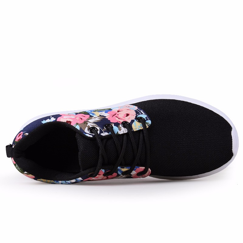 KUYUPP Fashion Breathable Print Flower Women Trainers Casual Shoes 2016 Summer Mesh Low Top Shoes Zapatillas Deportivas YD95 (45)