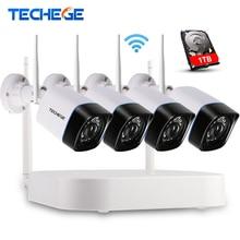 4CH CCTV Système Sans Fil NVR Kit P2P 720 P HD Extérieure IR Night Vision Security 1.0MP Caméra IP WIFI CCTV Système Plug And jouer