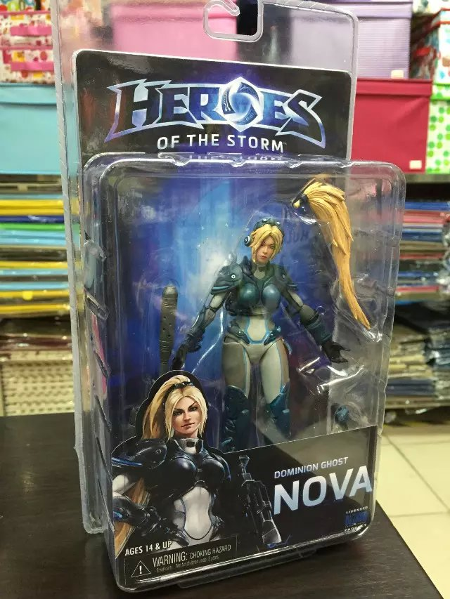 NECA Heroes of The Storm Dominion Ghost NOVA PVC Action Figure Collectible Model Toy 15cm KT1893 laying the ghost