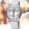 SKONE Assistir Mulheres de luxo Moda Casual relógios de quartzo esporte Senhora relojes mujer de couro relógios de pulso das mulheres Vestido Da Menina de 2535