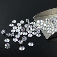 2.0mm Total 1 carat DF Color Certified Lab Grown Moissanite Diamond Loose Bead Round Brilliant Cut Test Positive