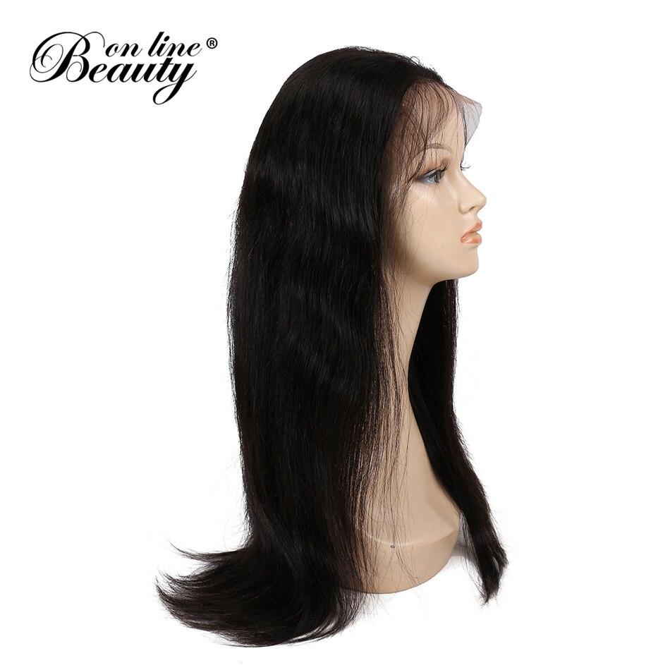 Красота на линии Длинные прямые полный шнурок человеческих волос парики предварительно сорвал натуральных волос с ребенком волос Реми Мал...
