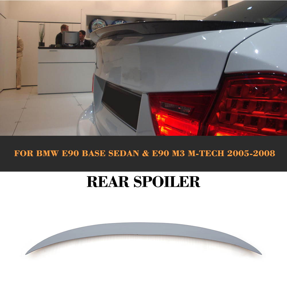 Rear Trunk spoiler wing for BMW E90 M3 318i 320i 325i 328i 330i 2005 2006 2007 2008 ABS Car Cover car rear trunk security shield shade cargo cover for honda fit jazz 2004 2005 2006 2007 black beige
