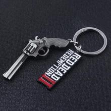 3 Types Red Dead Redemption 2 Keychain Rockstar Game Pendant Metal Key Ring Holder Men Car Women Bag Key Chain Chaveiro Jewelry цена