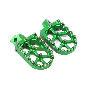 Motorcycle Billet MX Wide Foot Pegs Pedals Rest Footpegs For Kawasaki KDX200 KDX220 KDX 200 220 KDX250 KX125 KX250 KX500