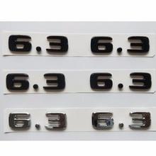 Chrome Matte Gloss Black Number 6.3 Fender Emblem Emblems Badges for Mercedes Benz AMG W207 W211 W212 W203 W204 W205 C63 E63