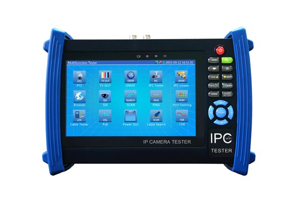 5 in 1 7 inch IP CCTV tester monitor IP HD TVI CVI AHD analog cameras testing ONVIF cable scan ip revise wifi PTZ  12V2A POE 4 3 inch four in one hd cctv tester monitor ahd cvi tvi cvbs analog cameras testing 1080p 960p 720p ptz audio 12v