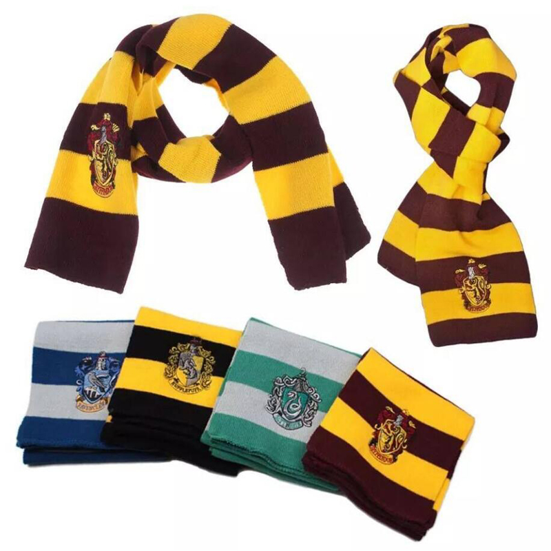 harri potter Christmas present costume scarf Hermione Gryffindor Ravenclaw Slytherin Hufflepuff Scarf for Boys and Girls Hal