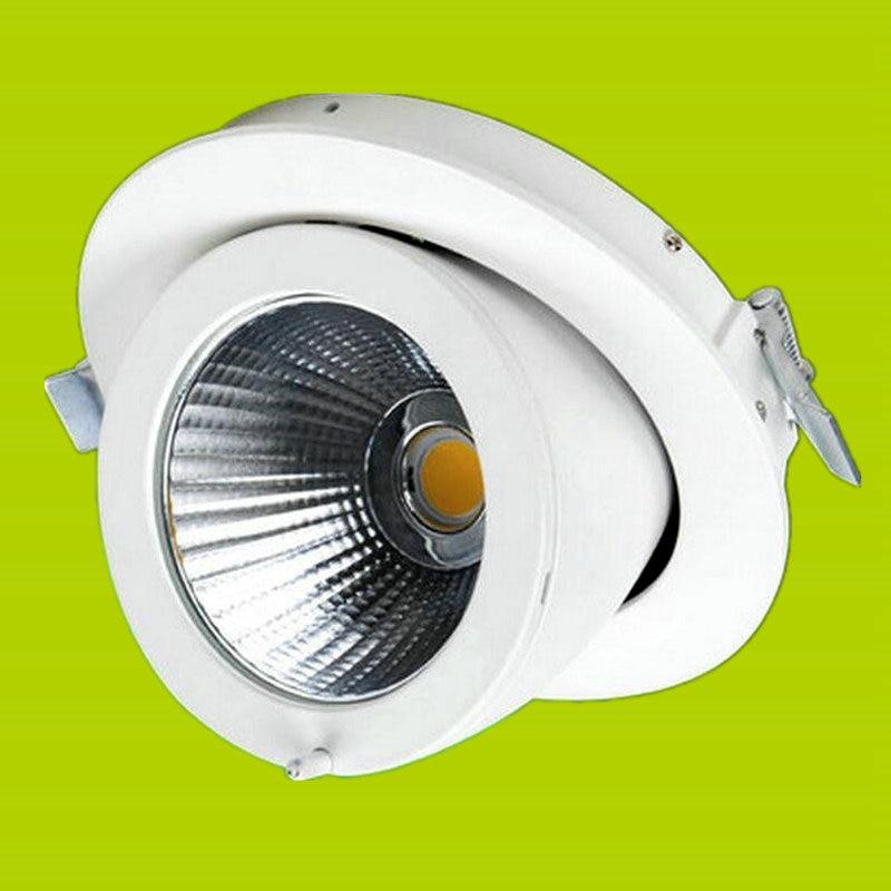ФОТО Wholesales COB LED 10W 15W 20W 30W Spotlight LED Indoor Lighting Recessed Downlights Warm Cold White AC85-265V SNYKA