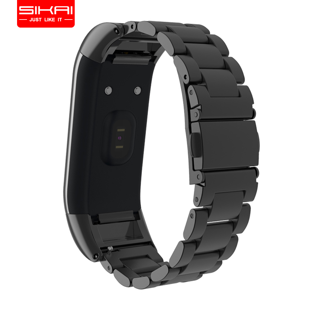 SIKAI New Watch Strap For Huami Amazfit Cor Bracelet Stainless Steel Watch Band For Huami Amazfit Cor Strap