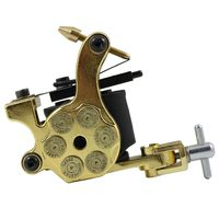 Besta High Quality Bullet Tattoo Machine 10 Wrap Coil Shader And Liner Tattoo Equipment Tattoo Power