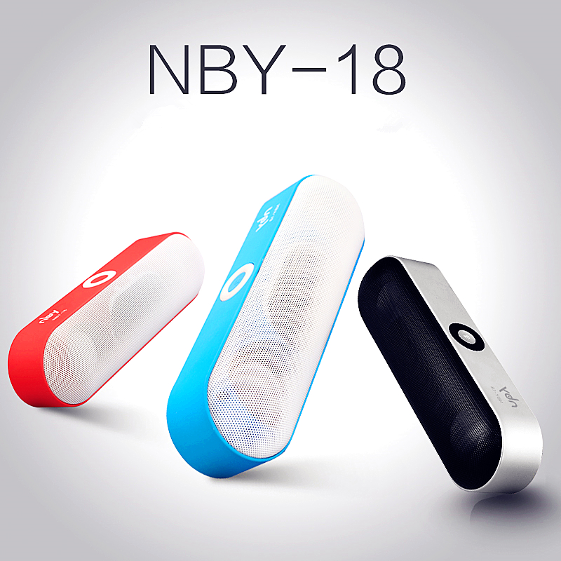 NBY 18 Mini Bluetooth Speaker Portable Wireless Speaker Sound System 3D Stereo Music Surround Support Bluetooth TF AUX USB