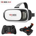 CAIXA VR 2.0 ii Couro Fone De Ouvido Cabeça Monte de Realidade Virtual 3D óculos vrbox capacete para 4-6'm óvel + mocute 050 controle remoto