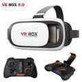 VR 2.0 ii Cuero Auricular Head Mount Realidad Virtual 3D gafas vrbox casco para 4-6 'mobile + mocute 050 mando a distancia