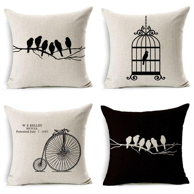 Moderne décoratifs pour la maison coussins oiseau permanent sur