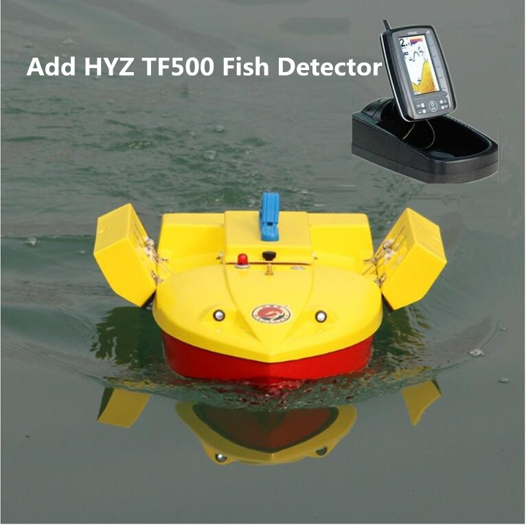 Hot Professional fishing Boat HYZ-60 60cm 500M Double bucket remote control fishing bait boat Hook ship can add Fish detector шапка noble people для мальчика 19517 319 красный noble people