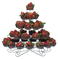 Event Party Wedding Luxury Steel Fruit Tower Server Food Display 5 Tier Cake Stand Hold 41