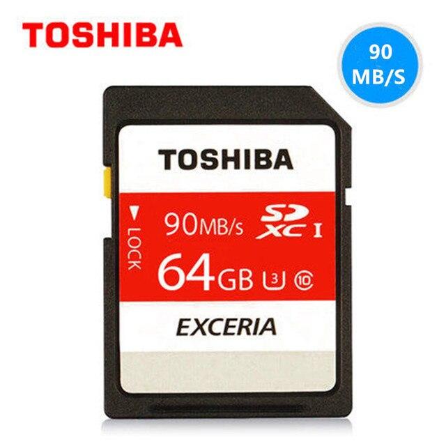Toshiba 90 U3 МБ/с. 600x32 GB SDHC UHS-I Class 10 SD Card 64 ГБ 128 ГБ SDXC Карты Памяти Flash Для Canon Nikon ЗЕРКАЛЬНЫЕ ФОТОКАМЕРЫ 4 К Видео Д. в.