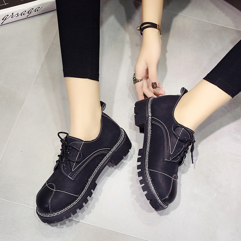 Weweya 2017 Women Shoes Students Lace Up Shoes Ballet Flats Casual Vans  Women Oxfords Shoes Green Sewing Shoes-in Women s Pumps from Shoes on  Aliexpress.com ... a49bce393bdd