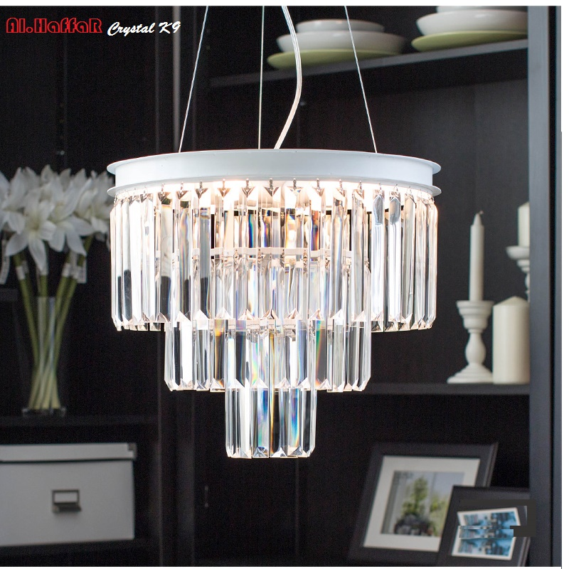 Modern LED pendant lights hanging lamp dining room living room Crystal pendant light Modern Lamps lustre Lighting Led Pendant 40cm acrylic round hanging modern led pendant light lamp for dining living room lighting lustres de sala teto