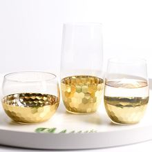 Скандинавский свежий стиль позолоченный хрустальный стеклянный Десерт Мороженое мусс чашка позолоченная вода, сок, молоко Шейк пудинг бокал для вина es