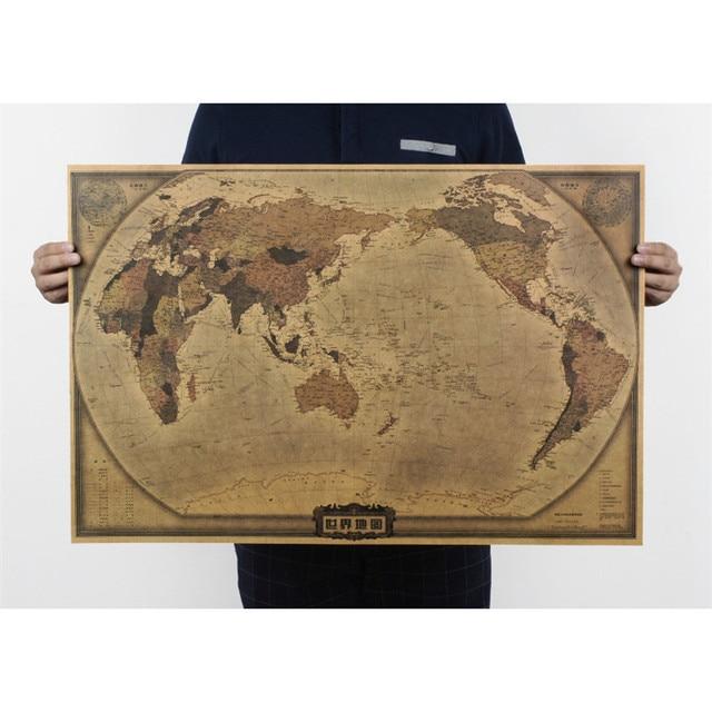 vintage World map posters nostalgia retro posters kraft paper ...
