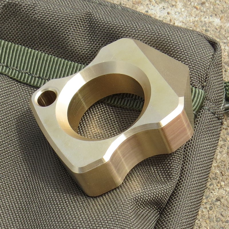 Brass EDC Defense Tactical Tool EDC Titanium Alloy Multipurpose Single Holes Outdoors Broken Window Self-defense