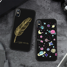 Space Silicone Cover For iPhone