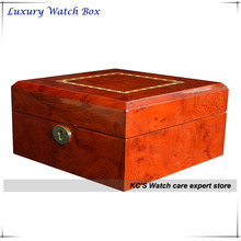 New High Quality 6 Grid Gross Finish Wacth Case Best Gift for Christmas Birthday Gift Wrist Watches Storage Box GC02-LG4-6HZX