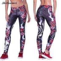 Nouveau Mode Femmes Hommes Leggings floral Imprimer Fitness Legging Sexy Silm Legins Streetwear Vintage Mi Taille Stretch Pantalon Pantalon