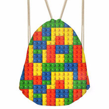 ThiKin Fashion Women Men Drawstrings Bags Colorful Grid Plaid Print Girls Backpacks Softback Storage Bag for