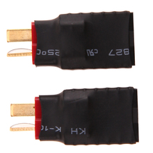 2pcs set Adapter Wireless Female for Traxxas to T Plug Deans Style Connector Adapter RC
