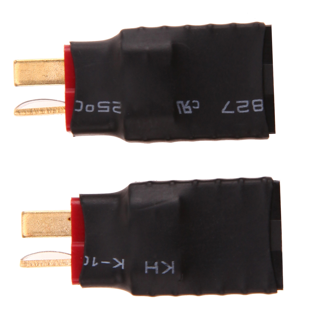 Newest 2pcs Wireless Female for Traxxas to T Plug Deans Style Connector Adapter High Quality